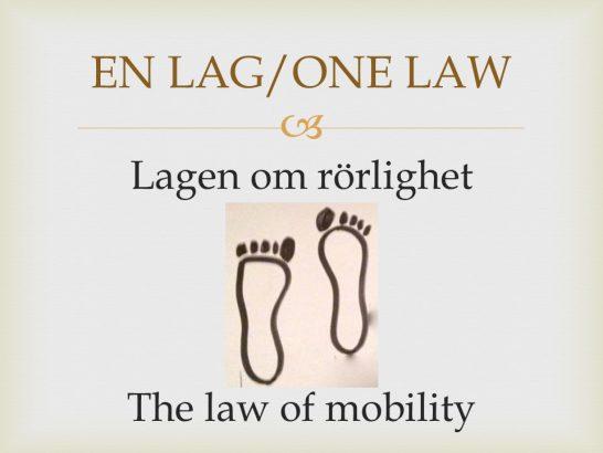 law of mobility lagen om mobilitet