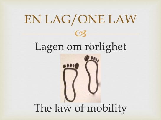 law of mobility lagen om mobilitet